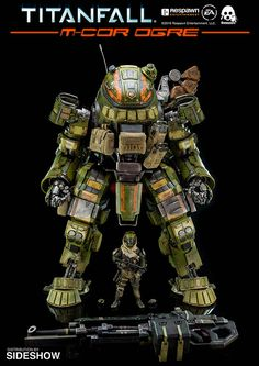 The Titanfall M-Cor Ogre Collectible Figure by Threezero is available at Sideshow.com for fans of Titanfall and video games.
