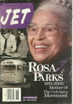 Jet Magazine cover with Rosa Parks Jet Magazine, Black Magazine, Rosa Parks, Ebony Magazine Cover, Magazine Covers, Vintage Black Glamour, African American History, American Women, Native American