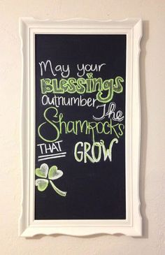 St Patricks Day Chalkboard 3 patricks day humor sayings