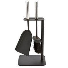 Crafters-Fireside-Tools-Companion-Set-Vintage-Fire-Brush-Poker-Tongs-Shovel
