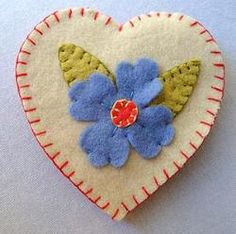 Heart needle case tutorial