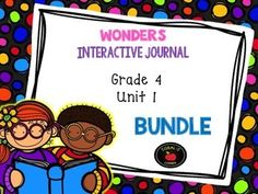 This 4th grade, Unit 1 (Weeks 1-5) highly INTERACTIVE journal BUNDLE contains over 35 pages of student activities aligned to the McGraw Hill Wonders series. It is ideal for teaching all of the skills in this Unit in a powerful, student-friendly way!Complete Set Includes:Essential Question Response SheetMini Anchor Charts for each week's Comprehension Skill Graphic Organizers for each week's Comprehension SkillVocabulary Strategy for each weekGenre Study for each…