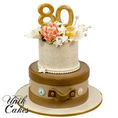 80th-birthday-travel-suitcase-cake