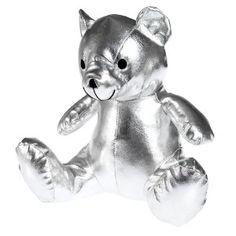 Metallic Silver Teddy Bear