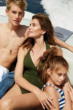 Cindy Crawford and her son, Presley, and daughter, Kaia, photographed by Carter Smith, Vogue, September 2015.