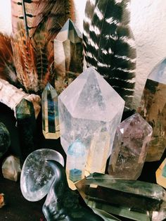 Crystals, feathers, shells...