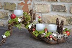 Adventsgesteck-Himmlische Grüsse von Moneria auf DaWanda.com
