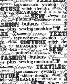 eQuilter Cut & Sew - Measured Words - White