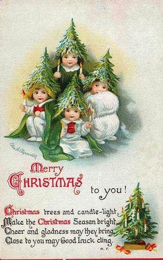 Ellen Clapsaddle vintage Christmas postcard
