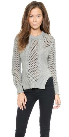 Bless'ed are the Meek Weave Sweater   SHOPBOP