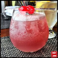 Cherry Smash is a TASTY blend of bourbon and cherry liqueur.
