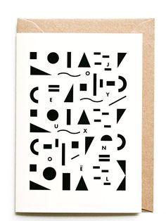 Michoucas Design Noël Geometrie Karte