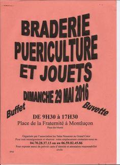 affiche Braderie puériculture et jouets