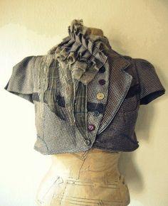 recycled fashion-ethical design-vintage fabrics-bohemian clothing - Waistcoat/Jackets  naturallybohemium.com