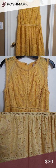 85c0b43bf503 Xhilaration lace mustard colored dress