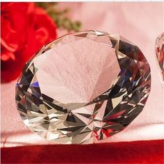 Clear 80mm K9 Crystal Diamond Paperweight Made By Machine Diameter Romantic Gift wedding Decoration Free Shipping