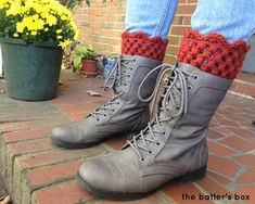 Crochet Boot Cuffs | free pattern || the batter's box. Shilo... I want these and I need to be taught how to do this lol.  Love you!
