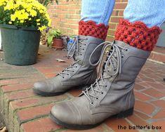 Crochet Boot Cuffs   free pattern    the batter's box.