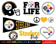 free nfl svg files for cricut Pittsburgh Steelers Logo, Steelers Flag, Cricut Svg Files Free, Silhouette Cameo Projects, Silhouette Curio, Nfl Logo, Monogram Letters, Anchor Monogram, Cricut Creations