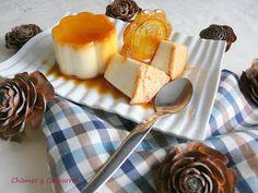 Chismes y Cacharros: Flan de queso con galleta