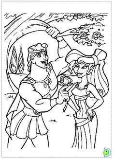 Hercules Coloring Page DinoKids