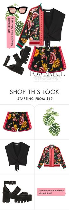 """powerful"" by juliebarbeau ❤ liked on Polyvore featuring Gucci, Rainforest, Alice + Olivia, Windsor Smith and Quay"