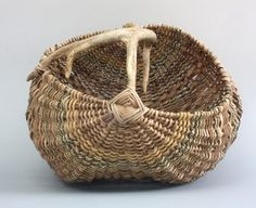 Antler Basket with Sea Grass.