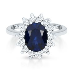 Fit for a Princess™ Oval Lab-Created Sapphire Ring in 10K Gold