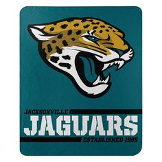 Be in control of your environment with the Jacksonville Jaguars Split Wide Blanket. Constructed with ultra soft fleece allowing you to be warm and cozy at the game or in front of the TV on movie night. Bold lettering of the team name is accented. Nfl Fans, Football Fans, Jackson Jaguars, Jacksonville Jaguars Logo, Jaguar Sport, Seat Belt Pads, Tiki Totem