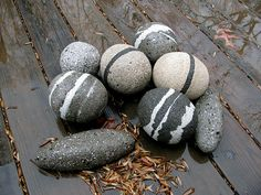 wet hypertufa rocks by sarahammocks, via Flickr
