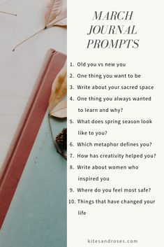 March journal prompts are here to guide you in your journal writing process. Writing Process, Writing Tips, Kids Writing, Journal Writing Prompts, Journal Topics, Daily Journal, Journal Questions, Bullet Journal Inspiration, Journal Ideas