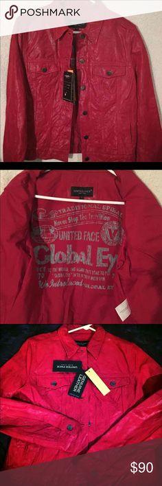 New with tags United Face genuine leather jacket Size large United Face Jackets & Coats