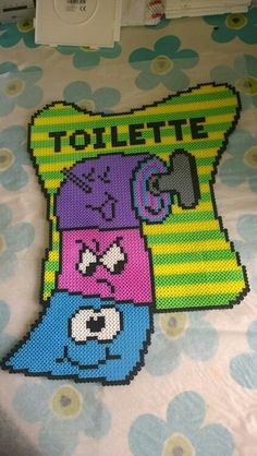 Toilet sign hama perler beads by Christina Ruskjær