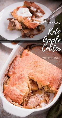 I'm so excited to share my keto apple cobbler recipe with you guys! When Aaron told me his readers love keto desserts, it got my wheels turning.