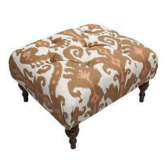 Nate Berkus™ Marrakesh Clove Ottoman at HSN.com; for the next living room...or should I do the gray colorway?