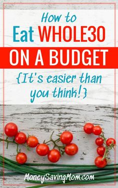 on a Budget Eat on a budget with these GREAT savings tips! It's actually way easier than you think!Eat on a budget with these GREAT savings tips! It's actually way easier than you think! Healthy Recipes On A Budget, Whole 30 Recipes, Paleo Recipes, Whole Food Recipes, Nutella Recipes, Olaf, Whole 30 Challenge, Money Saving Mom, Pasta