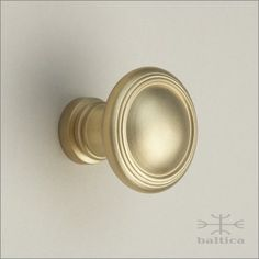 Gabriel Cabinet Knob, Round, 33mm | Satin Brass | Custom Door Hardware |  Exquisite