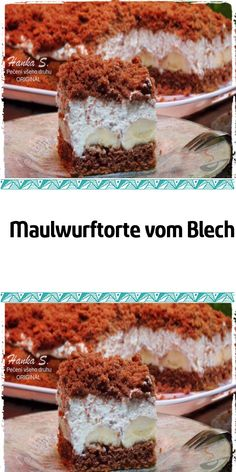 Maulwurftorte vom Blech My husband recently put a pack of mole cakes in my shopping cart. I look at him like this and say: are you crazy? Well, I baked it :] Easy Cake Recipes, Healthy Dessert Recipes, Smoothie Recipes, Cookie Recipes, Snack Recipes, Fall Desserts, No Bake Desserts, Mole, Desserts Sains