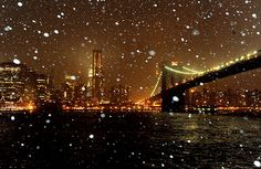 NYC Snow at Night