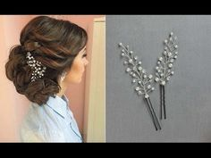 Hair Pins for Hairstyle Hair Vine Accessory Hair comb DIY - YouTube