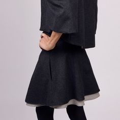 "Dymaxion Skirt  by Anna Brown, 26% off (""This Anna Brown skirt is perfect for indulging that daredevil flirty side you've always wanted to embrace. It's flared, paneled and has exposed lining and hidden side seam pockets, for an appropriately minxy look."")"
