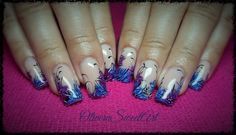 Floral french nails (idea from internet) by OliveraSweetArt from Nail Art Gallery