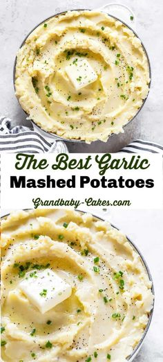 These Garlic Mashed Potatoes are smooth and silky, creamy, deliciously buttery a. - These Garlic Mashed Potatoes are smooth and silky, creamy, deliciously buttery and beyond garlicky! Best Garlic Mashed Potatoes, Perfect Mashed Potatoes, Mashed Potato Cakes, Homemade Mashed Potatoes, Mashed Potato Recipes, Creamy Mashed Potatoes, Russet Potatoes, Le Diner, Side Dish Recipes
