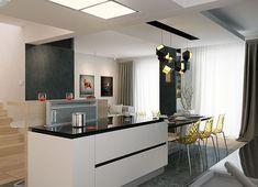 Projekt domu Karat 2 162,51 m² - koszt budowy - EXTRADOM Modern Family House, Modern House Design, 2 Storey House Design, Mediterranean Style Homes, Architect House, Facade House, Bungalow, House Plans, Construction