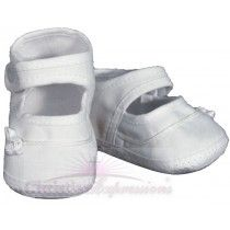 Girls Cotton Batiste Shoe with tiny braid