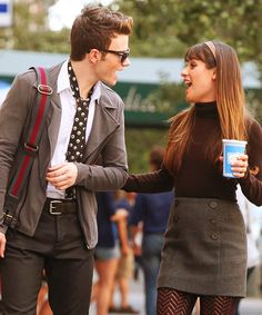 Kurt and Rachel..Glee!