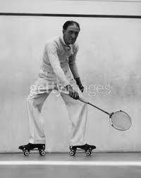 Vintage roller-squash.