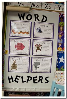 """The First Grade Parade: Word Helper Strategies (Bookmarks for Read to Someone """"coaching"""") Too Cool For School, School Fun, School Stuff, School Tool, Reading Centers, Reading Workshop, Teaching Reading, Guided Reading, Teaching Ideas"""