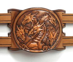 Leather cuff bracelet Mother of the Dragons by FantasyLeatherCraft