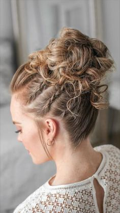 @missysueblog Braided Bun Hairstyles, Cute Hairstyles, Wedding Hairstyles, Braided Updo, Hair Dye Shades, Curly Hair Styles, Natural Hair Styles, Cool Braids, Amazing Braids